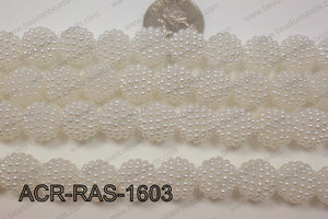 Acrylic Raspberry round White 14mm ACR-RAS-1603