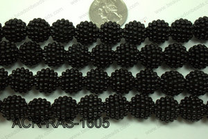 Acrylic Raspberry round Black 14mm ACR-RAS-1605