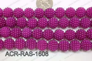 Acrylic Raspberry round Dark Purple 14mm ACR-RAS-1608