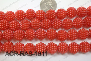 Acrylic Raspberry round Red 14mm ACR-RAS-1611