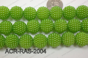 Acrylic Raspberry round Green 18mm ACR-RAS-2004