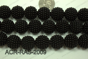 Acrylic Raspberry round Black 18mm ACR-RAS-2009