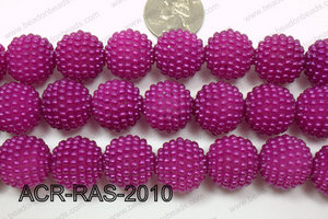 Acrylic Raspberry round Dark Purple 18mm ACR-RAS-2010