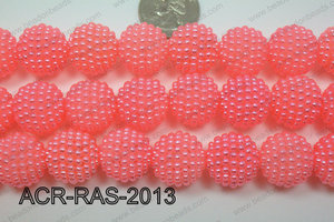 Acrylic Raspberry round Light Pink 18mm ACR-RAS-2013