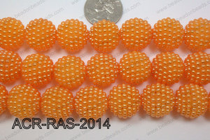 Acrylic Raspberry round Orange 18mm ACR-RAS-2014