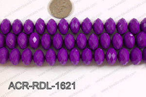 Acrylic Rondelle faceted 16mm purple  ACR-RDL-1621