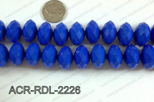 Acrylic Rondelle faceted 22mm dark blue  ACR-RDL-2226