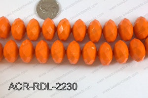 Acrylic Rondelle faceted 22mm orange  ACR-RDL-2230