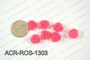 Acrylic Rose bead 13mm pink ACR-ROS-1303