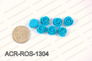 Acrylic Rose bead 13mm blue ACR-ROS-1304