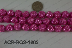 Acrylic Rose Hot Pink 16mm ACR-ROS-1602