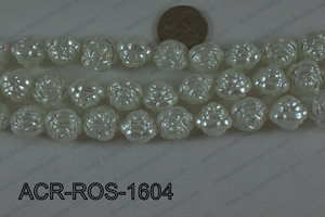 Acrylic Rose White 16mm ACR-ROS-1604