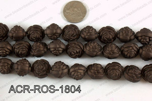 Acrylic Rose Brown 18mm ACR-ROS-1804
