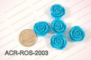 Acrylic Rose bead 20mm light blue ACR-ROS-2003