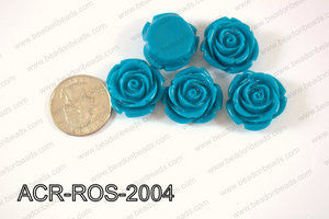 Acrylic Rose bead 20mm dark blue ACR-ROS-2004