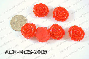Acrylic Rose bead 20mm red ACR-ROS-2005