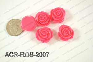 Acrylic Rose bead 20mm dark pink ACR-ROS-2007