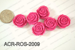 Acrylic Rose bead 20mm purple ACR-ROS-2009