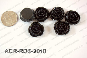 Acrylic Rose bead 20mm black ACR-ROS-2010