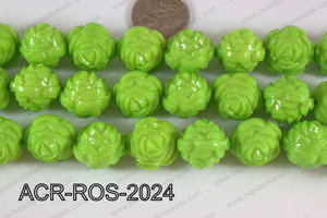 Acrylic Rose Green 20mm ACR-ROS-2024