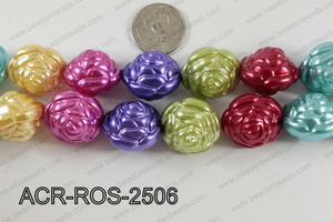 Acrylic Rose 25mm multi ACR-ROS-2506