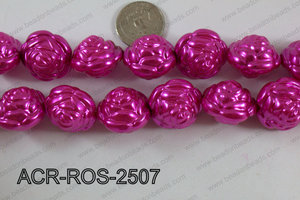 Acrylic Rose 25mm hot pink ACR-ROS-2507