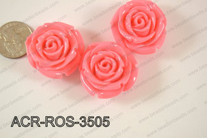 Acrylic Rose bead 35mm light pink ACR-ROS-3505