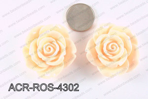 Acrylic Pendant Rose Peach 43mm ACR-ROS-4302