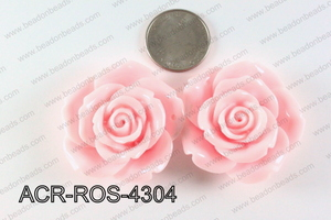 Acrylic Pendant Rose Light Pink 43mm ACR-ROS-4304