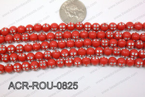 Acrylic Dice Round Red 8mm ACR-ROU-0825