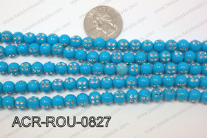 Acrylic Dice Round Turquoise 8mm ACR-ROU-0827