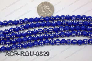 Acrylic Dice Round Dark Blue 8mm ACR-ROU-0829