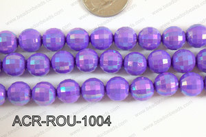 Acrylic Round faceted 12mm purple ACR-ROU-1004