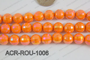 Acrylic Round faceted 12mm orange ACR-ROU-1006