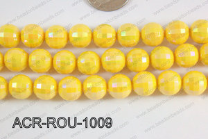 Acrylic Round faceted 12mm yellow ACR-ROU-1009