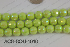 Acrylic Round faceted 12mm green ACR-ROU-1010