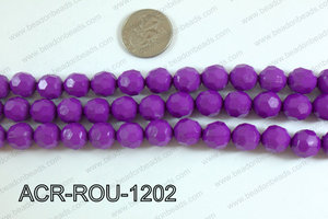 Acrylic Round faceted 12mm purple ACR-ROU-1202