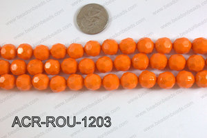 Acrylic Round faceted 12mm orange ACR-ROU-1203