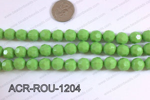 Acrylic Round faceted 12mm green ACR-ROU-1204
