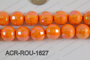 Acrylic Round faceted 16mm orange ACR-ROU-1627
