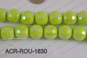Acrylic Round faceted 16mm green ACR-ROU-1630