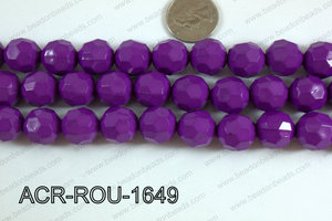 Acrylic Round faceted 16mm purple ACR-ROU-1649