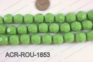 Acrylic Round faceted 16mm green ACR-ROU-1653