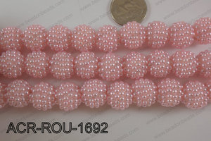 Acrylic Round 16mm Light pink ACR-ROU-1692