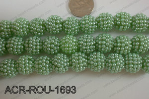 Acrylic Round 16mm Green ACR-ROU-1693