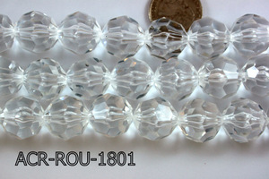 Acrylic Bead Faceted Round 18mm Clear 13'' ACR-ROU-1801