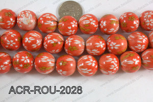 Acrylic Round  Orange 20mm ACR-ROU-2027