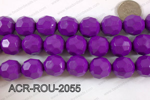 Acrylic Round faceted 20mm purple ACR-ROU-2055