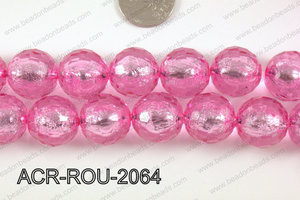 Acrylic Foil Faceted Round 20mm ACR-ROU-2064
