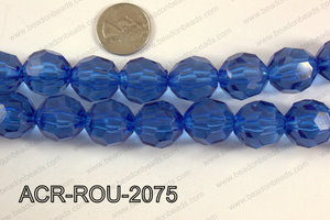 Acrylic Round faceted 20mm  ACR-ROU-2075